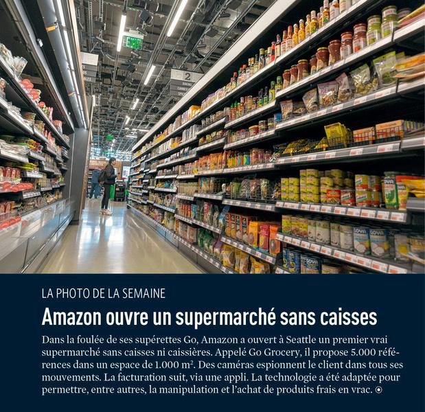 Amazon ouvre un supermarché sans caisses