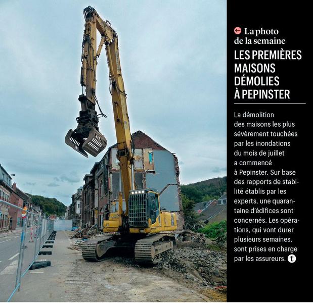 Les premières maisons démolies à Pepinster