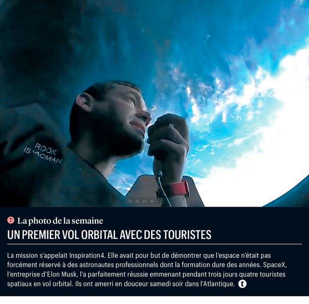 Un premier vol orbital avec des touristes