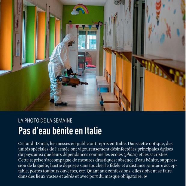 Pas d'eau bénite en Italie
