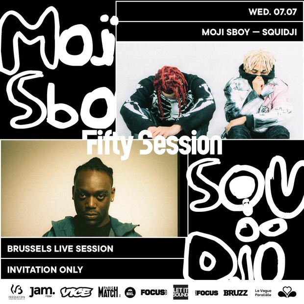 Win een duoticket voor de Fifty Summer Session: Moji x Sboy & Squidji van woensdag 7/7