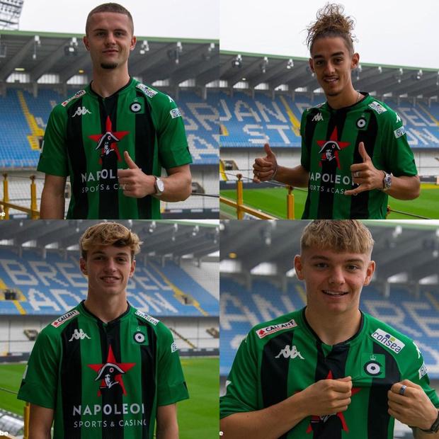 Vier jeugdspelers van Cercle Brugge beloont met contract