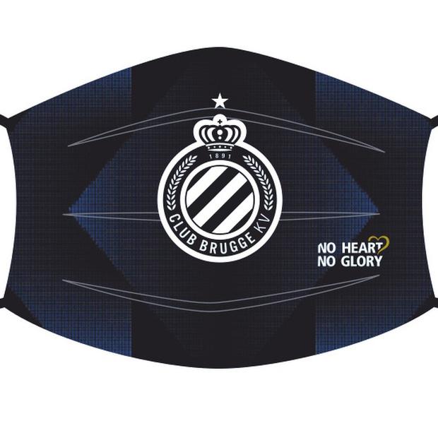 Voetbalclub Club Brugge verkoopt mondmaskers voor goede doel