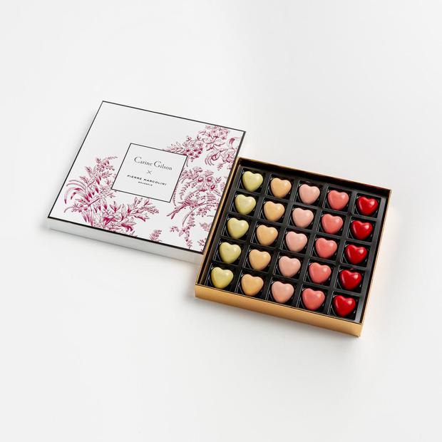 Pierre Marcolini x Carine Gilson: le mariage du chocolat, de la dentelle et de la soie