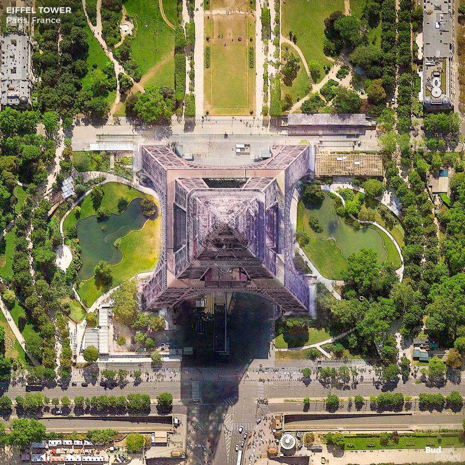 Les bâtiments les plus célèbres du monde vus du ciel