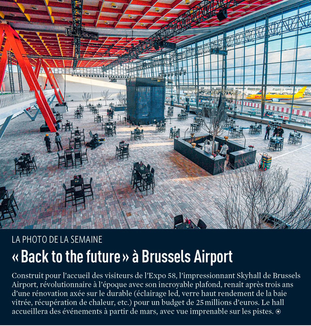 """"""" Back to the future """" à Brussels Airport"""