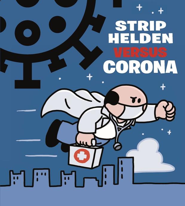 Stripwinkeliers bieden gratis album 'Striphelden versus corona' aan