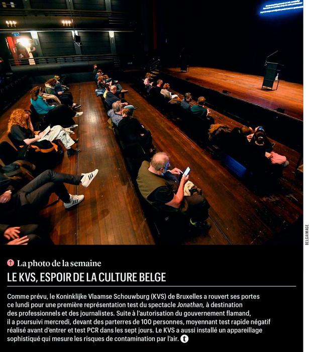 Le KVS, espoir de la culture belge