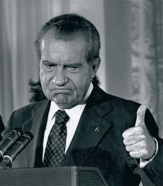Ces photos qui racontent l'histoire des Etats-Unis: la démission de Nixon