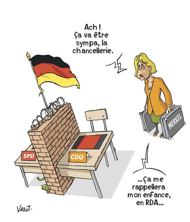 Rideau sur l'ère Merkel: ses seize années de pouvoir par Vadot