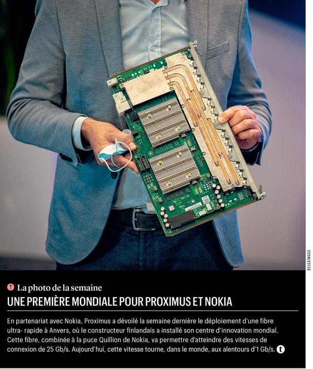 Une première mondiale pour Proximus et Nokia