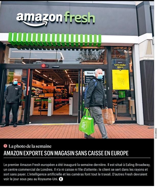 Amazon exporte son magasin sans caisse en Europe