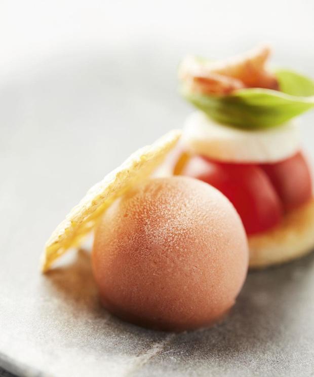 Recette: Sorbet aux tomates, à la mozzarella et à l'huile d'olive