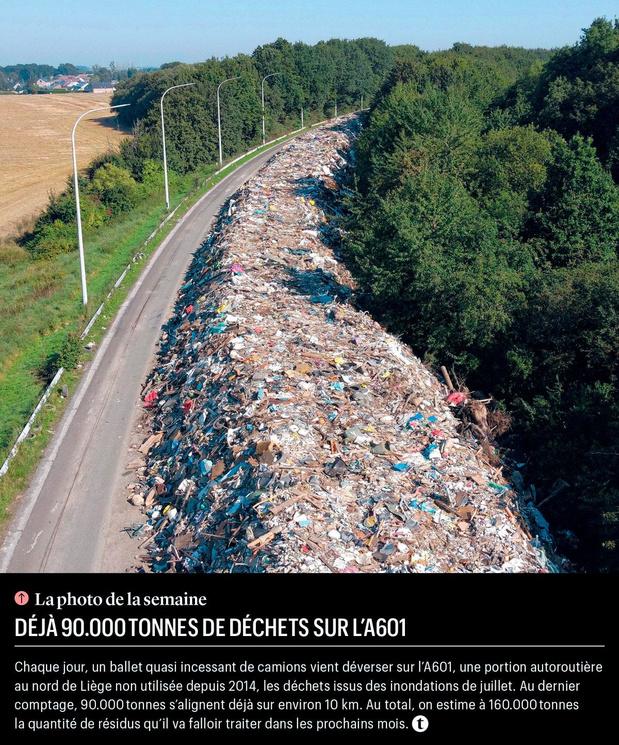 Déjà 90.000 tonnes de déchets sur l'A601