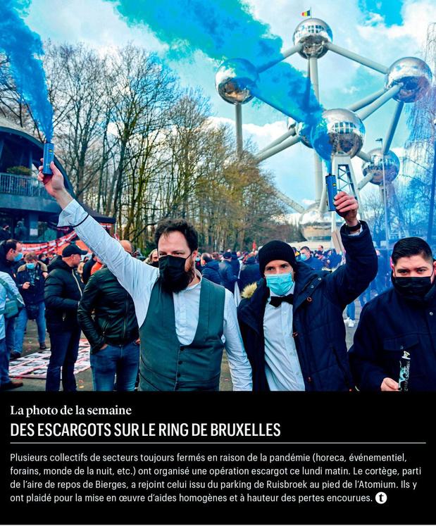 Des escargots sur le ring de Bruxelles