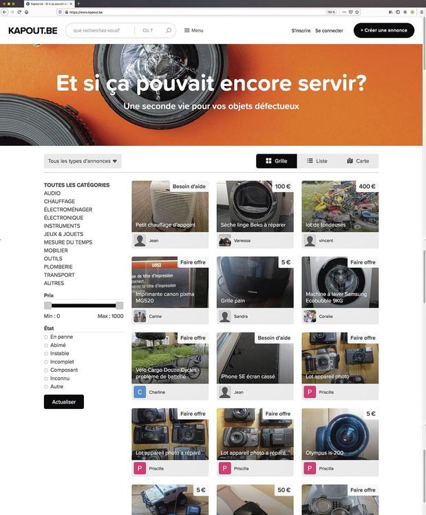 Kapout.be: redonne de la valeur aux objets cassés