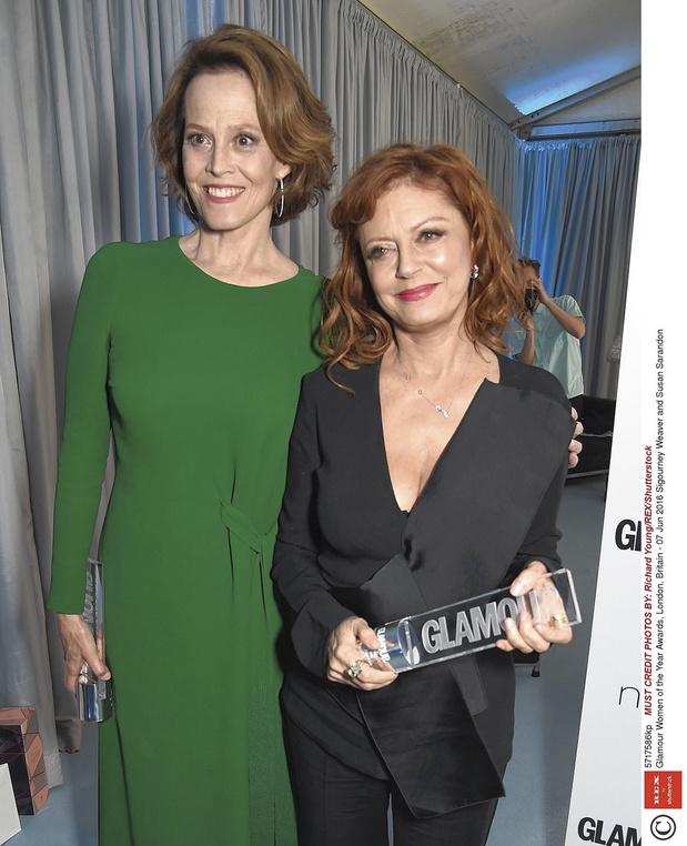 Susan Sarandon en Sigourney Weaver