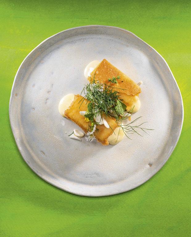 La recette des nems de reblochon fermier et salade pastorale de Christophe Pauly