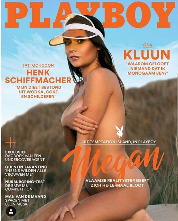 Megan Desaever (Temptation Island) siert cover van Playboy