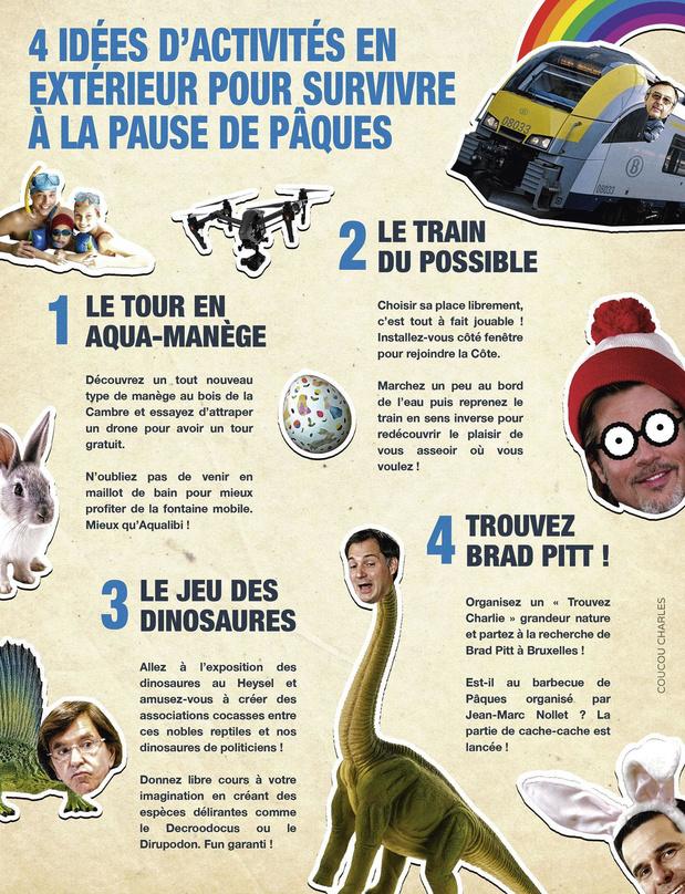 La caricature de Coucou Charles: 4 idées d'activités en extérieur pour survivre à la pause de Pâques