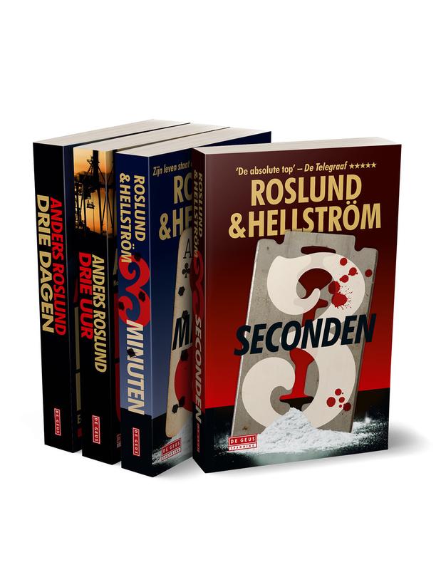 Vier megasterke thrillers van het populaire thrillerduo Roslund & Hellström
