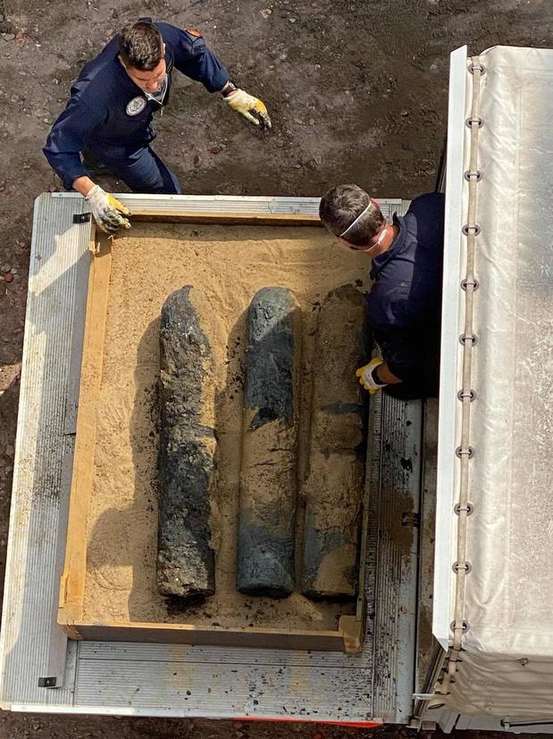 Vier mortieren bovengehaald tijdens rioleringswerken