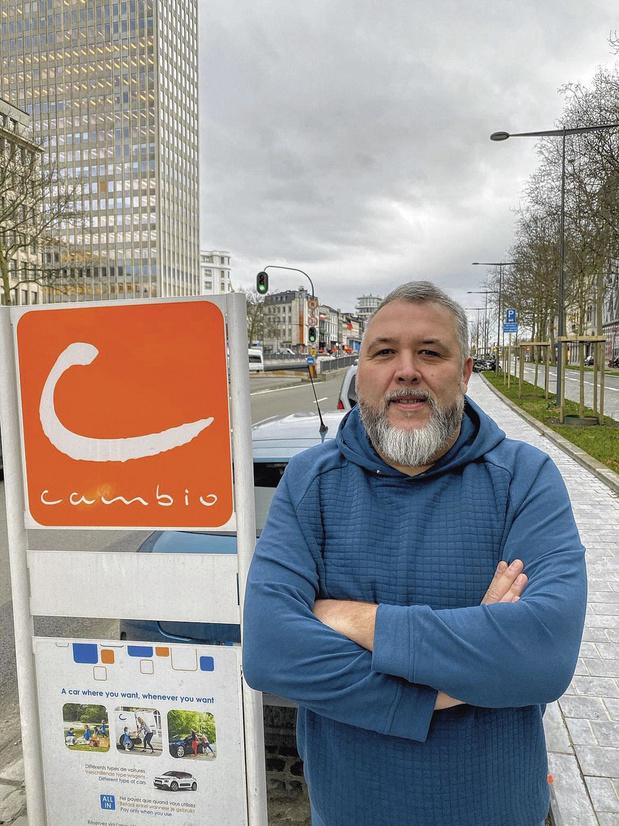 """Frédéric Van Malleghem (Cambio): """"Chaque véhicule a été utilisé plus de 12 heures par jour"""""""