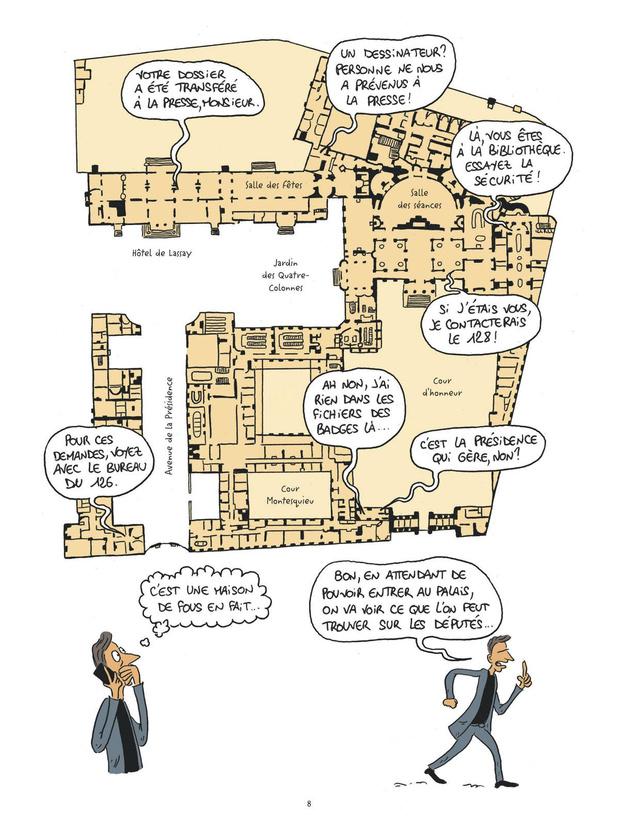 BD: les lieux de pouvoir s'ouvrent en dessin