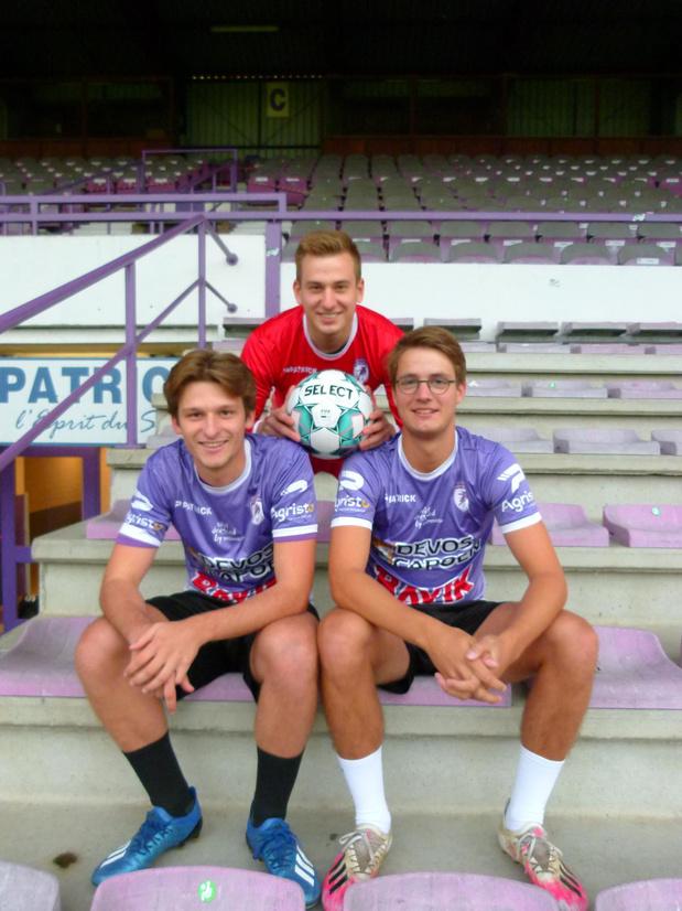 Charles, Flo en Amaury studeren samen in Gent en voetballen voor KRC Harelbeke