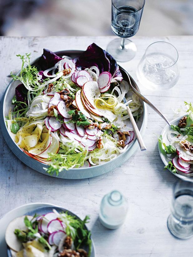 Salade hivernale et dressing au lait battu