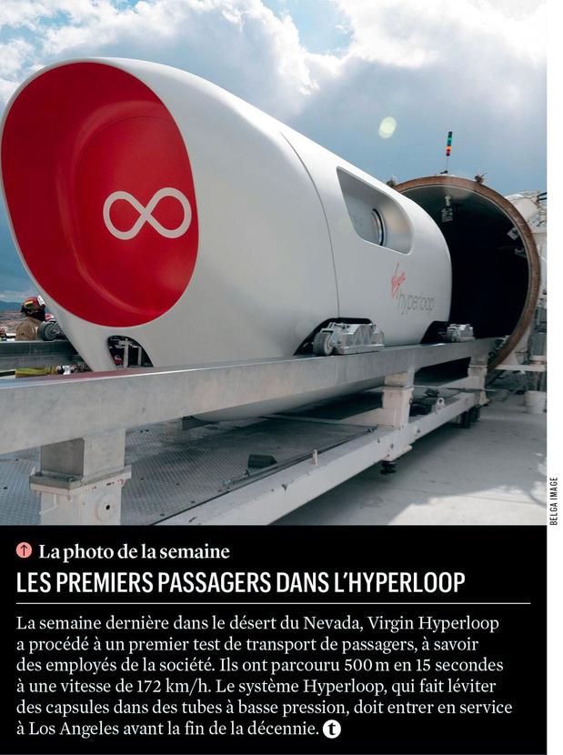 Les premiers passagers dans l'Hyperloop