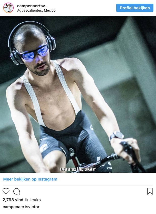 Waarom Victor Campenaerts in Mexico een blauwlichtfilterbril droeg