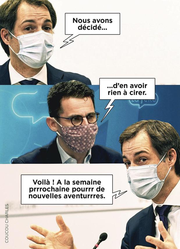 """La caricature de Coucou Charles: """"Les fabuleuses aventures du comité de non-concertation"""""""