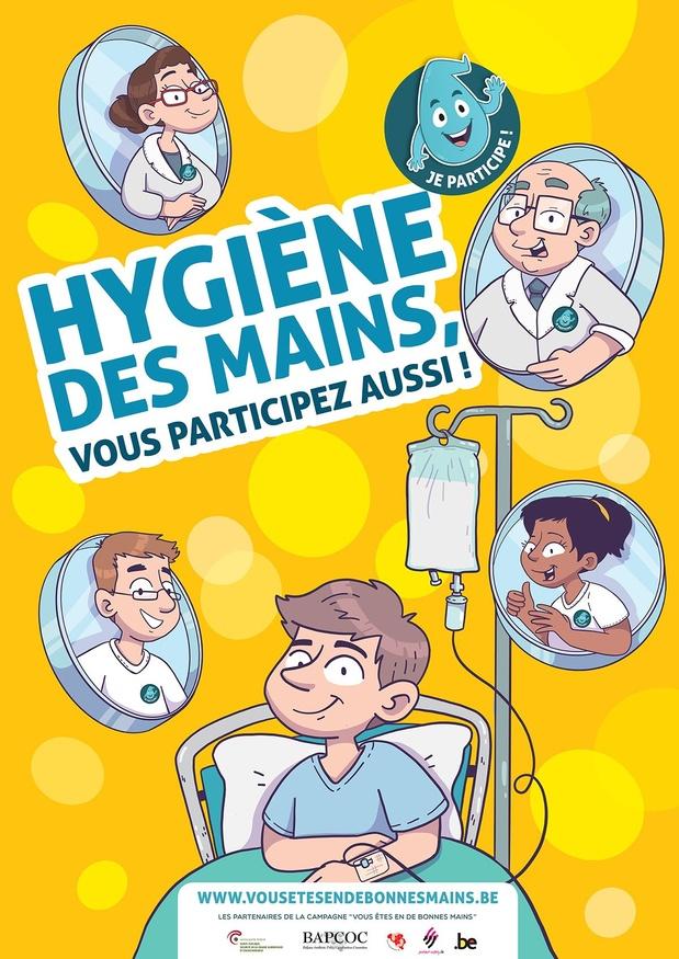 """""""Sauvez des vies: pratiquez l'hygiène des mains"""""""