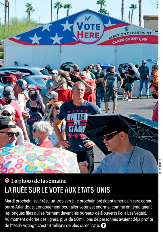 La ruée sur le vote aux Etats-Unis