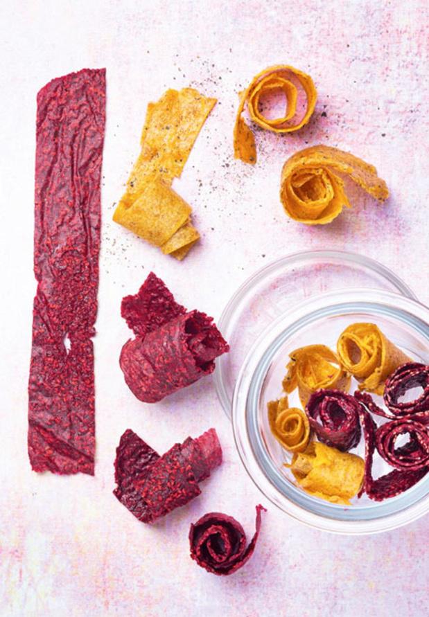 Cuir de fruits aux framboises et à l'eau de rose