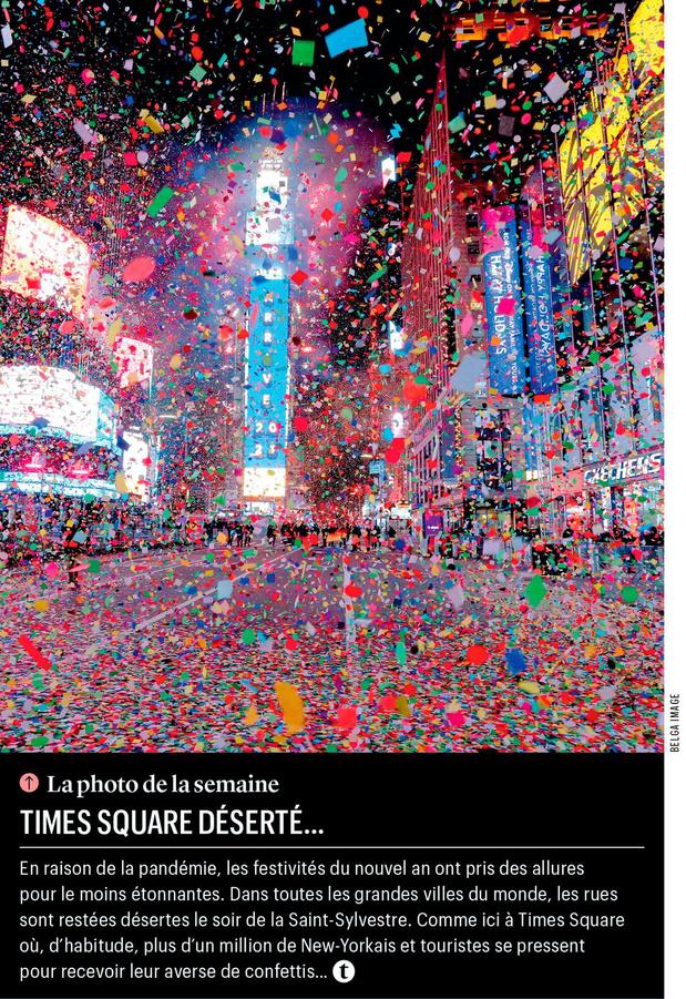 Times Square déserté...