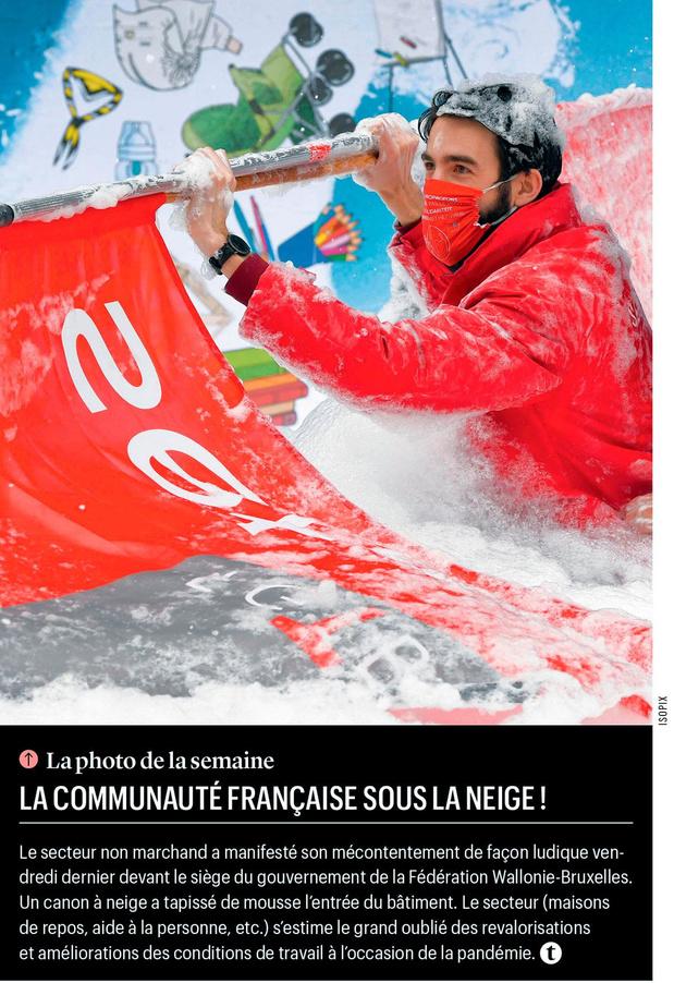 La Communauté française sous la neige!