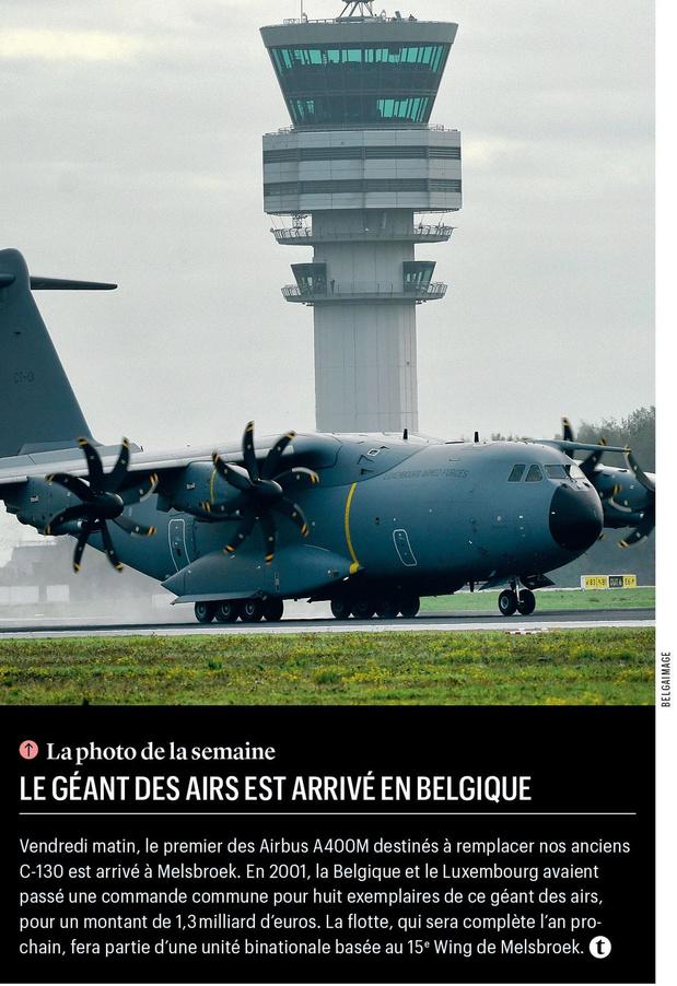 Le géant des airs est arrivé en Belgique
