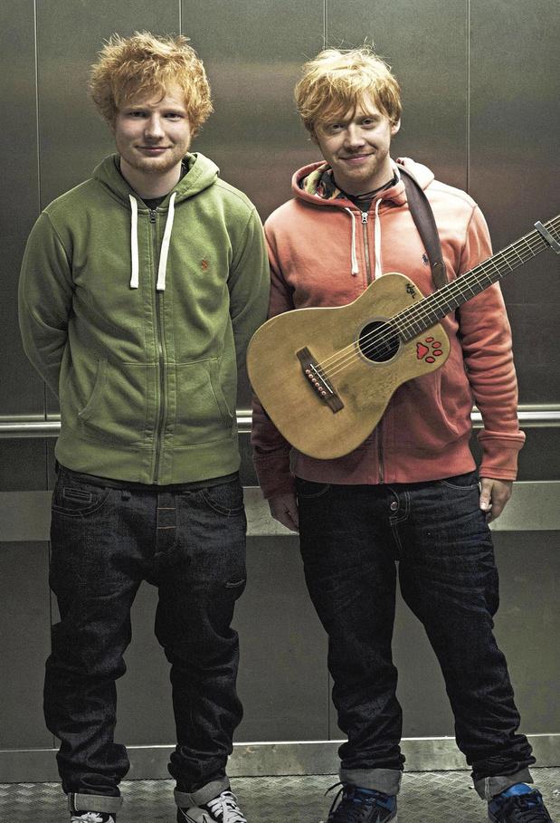 Ed Sheeran en Rupert Grint