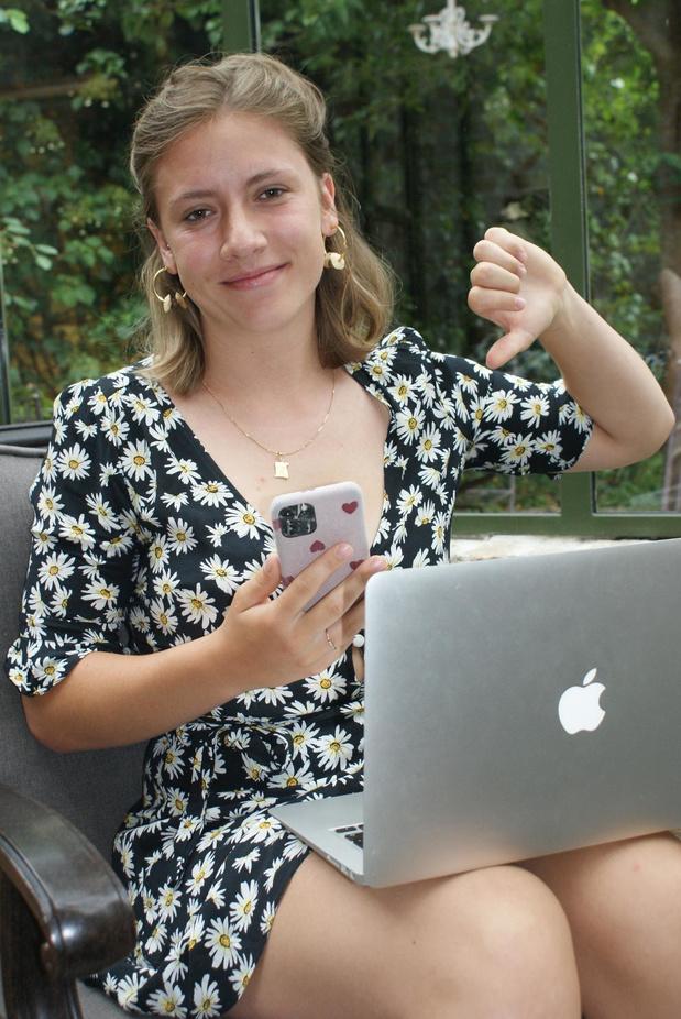 """Helena klaagt slechte verbinding aan: """"Als internet uitvalt tijdens mijn examen heb ik 0"""""""