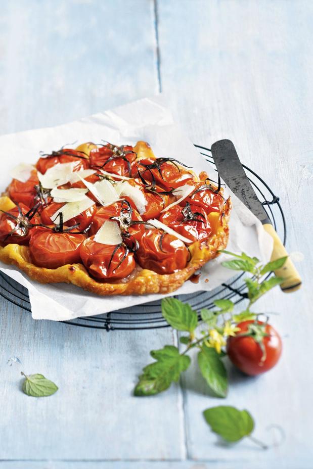 Tarte tatin van tomaat en parmezaan