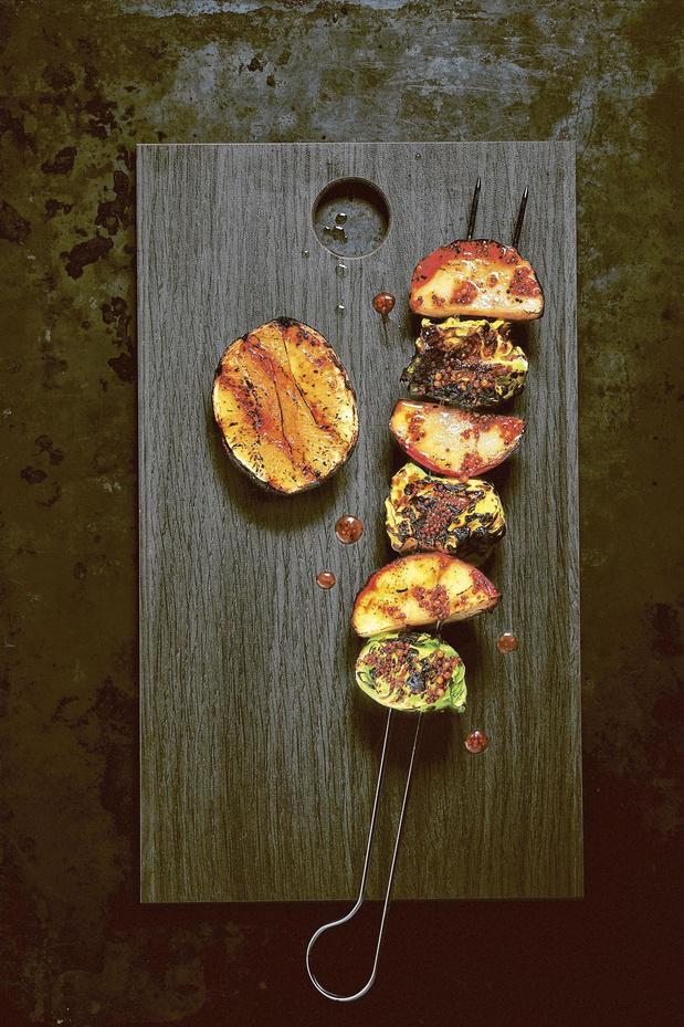 Appel-spruitjesspies met in whisky ingelegd mosterdzaad