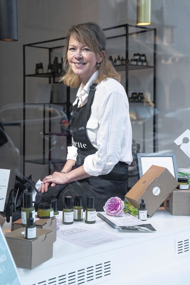Dominique Marinus crée des cosmétiques bio