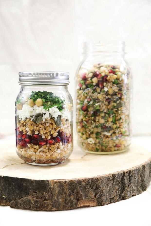 Recette : une salade en bocal