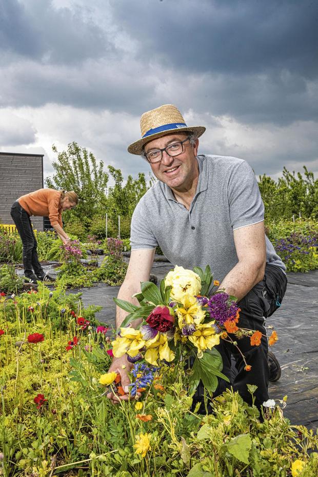 Dirk en Lieve zorgen voor bloemplukplezier