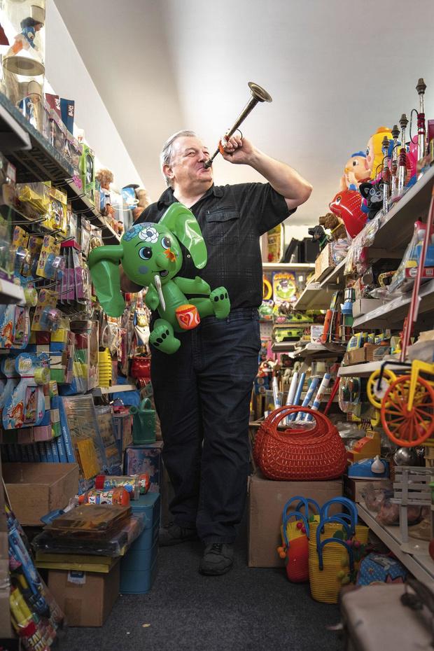 Michel Meganck a ouvert une boutique de jouets vintage