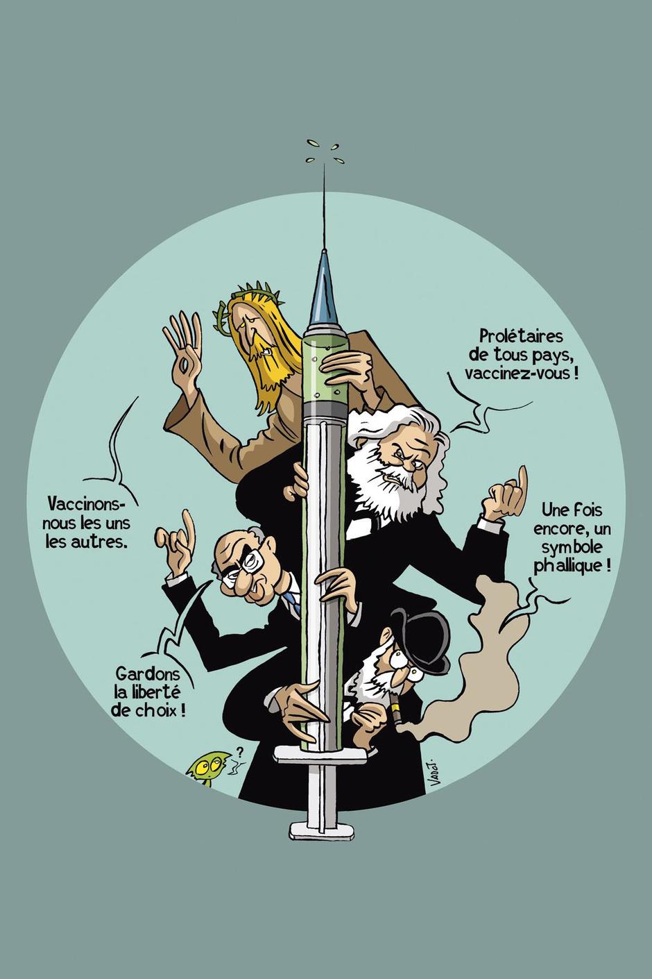 """Au zinc des prophètes: nous avons """"réuni"""" Jésus, Marx, Freud et Friedman dans le respect des mesures sanitaires"""