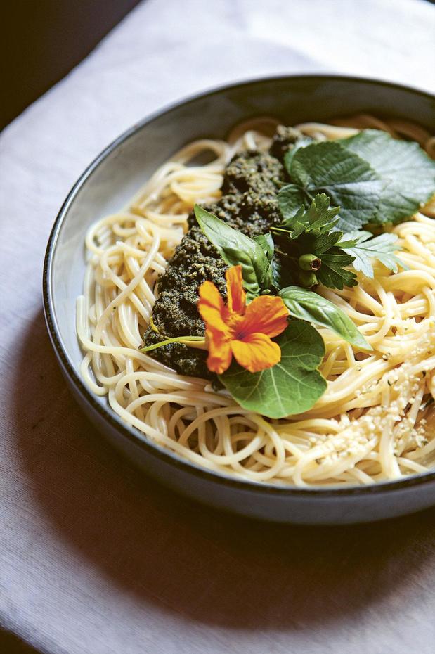 Recette: Pesto forestier végan (corsez vos pâtes avec ce pesto pas comme les autres)