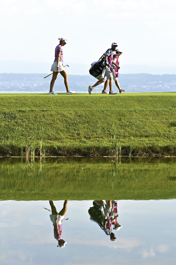 Een referentie in golf